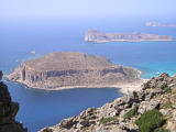 Balos Beach and Gramvousa from Top